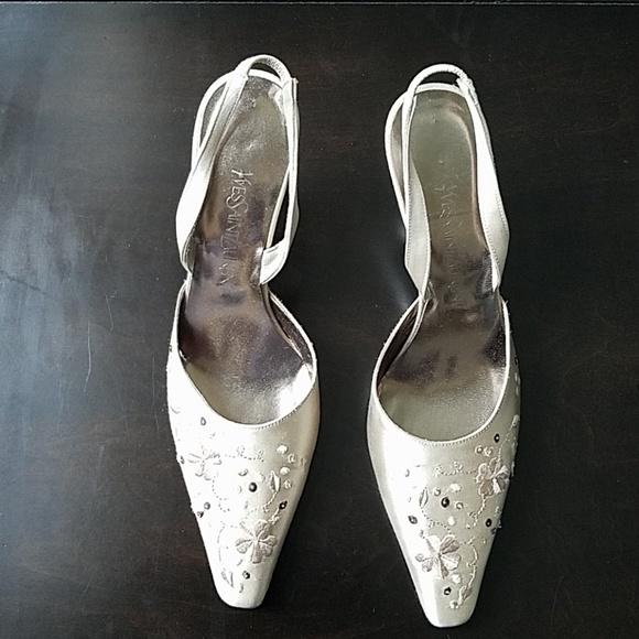 YSL Satin Champagne Evening Shoes 6.5 EUC. M 5b663462baebf659792c9fa7 9cf4d47c8b5c
